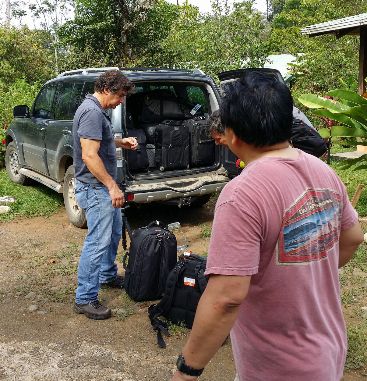Loading up our SUV for our next destination..